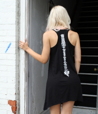 My Spine illustration dress