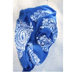 Hand screen printed scarf, featuring my Victorian brooch painting