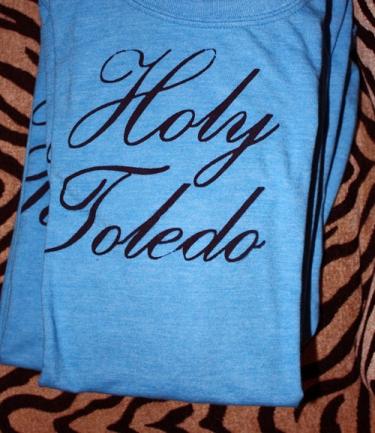 Holy Toledo Ohio hand printed tees